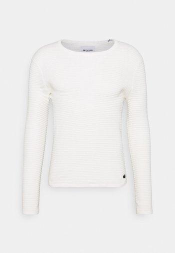 ONSLEXON LIFE STRUCTURE CREW NECK - Maglione - star white
