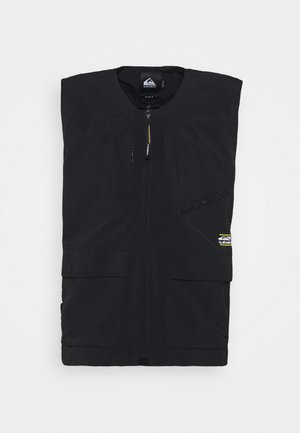 LAND SLIDE VEST - Waistcoat - black