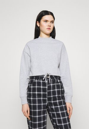 TIE HEM CROPPED SWEATSHIRT - Sweatshirt - light grey