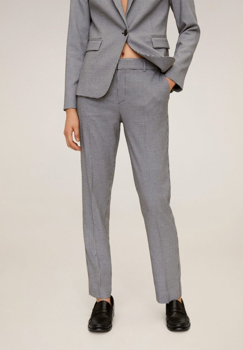 Mango - BORECUAD - Trousers - schwarz