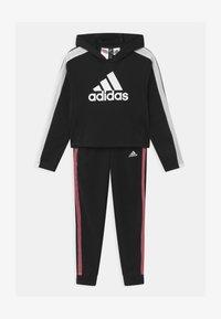 adidas Performance - SET UNISEX - Tracksuit - black/white - 0