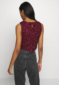 Lace & Beads - PICASSO - Top - burgundy - 2