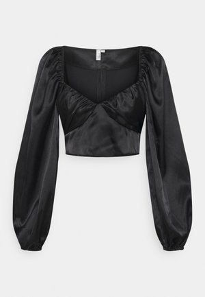 RUCHED UP BLOUSE - Blouse - black