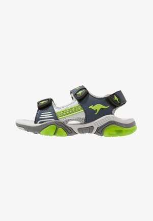Walking sandals - dark navy/lime