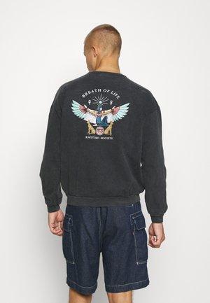 CREW WASHED ISIS UNISEX - Sweatshirt - black
