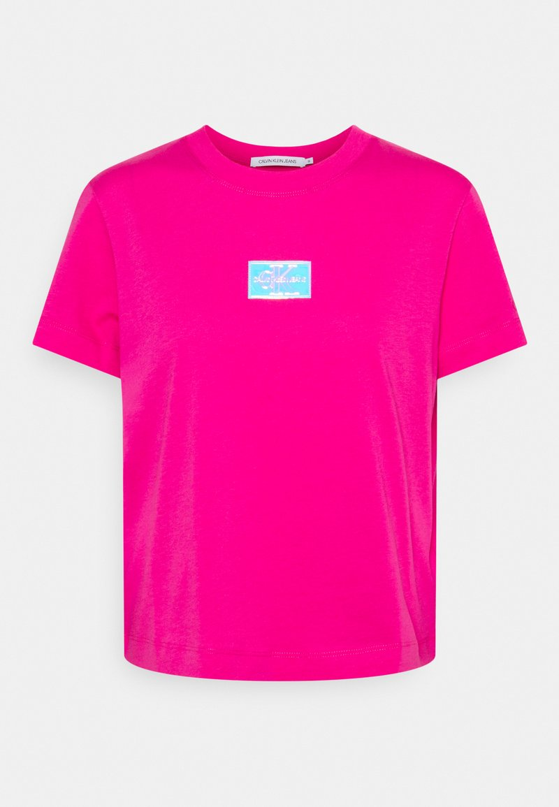Calvin Klein Jeans - SHINE BADGE TEE - Print T-shirt - party pink