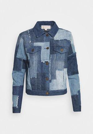 PATCHWORK JACKET - Denim jacket - medium indigo