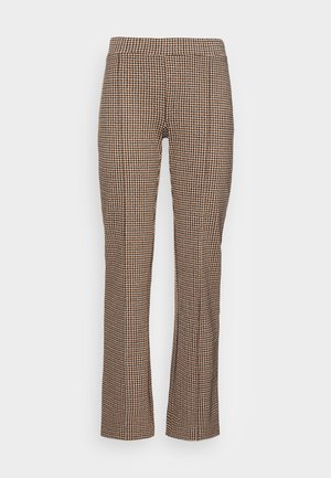 PONTAS - Trousers - toasted coconut check