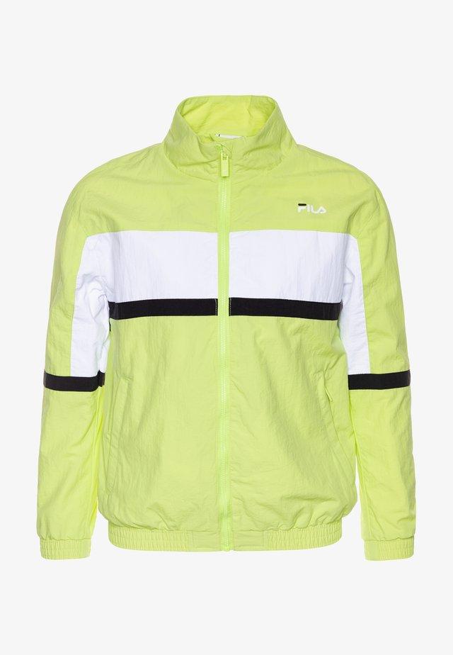 TOBIN - Sportovní bunda - sharp green/black/bright white