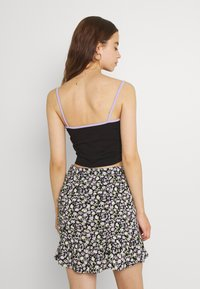 NEW girl ORDER - NEON CAMI - Top - black/lilac - 2