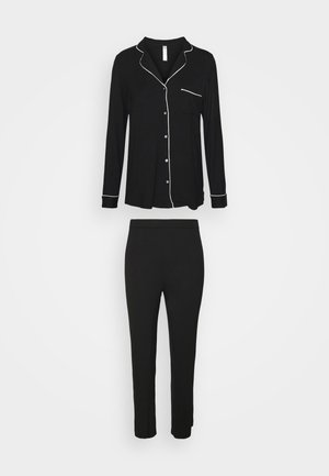 SOFT PIPING - Pyjamas - black