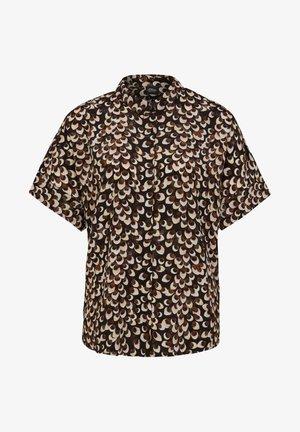 MIT ALLOVER-PRINT - Button-down blouse - black/brown