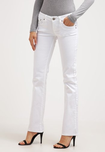 VALERIE - Bootcut jeans - white