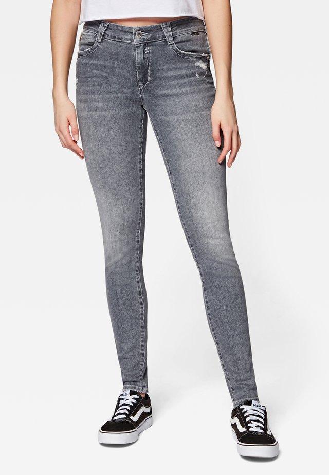 ADRIANA - Jeans Skinny Fit - grey ripped glam