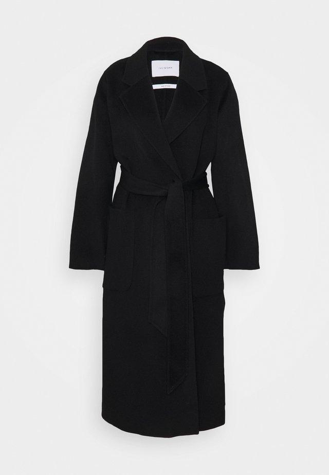 BELTED COAT - Manteau classique - black