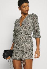 Gina Tricot - MICHELLE DRESS - Cocktail dress / Party dress - white spot - 3