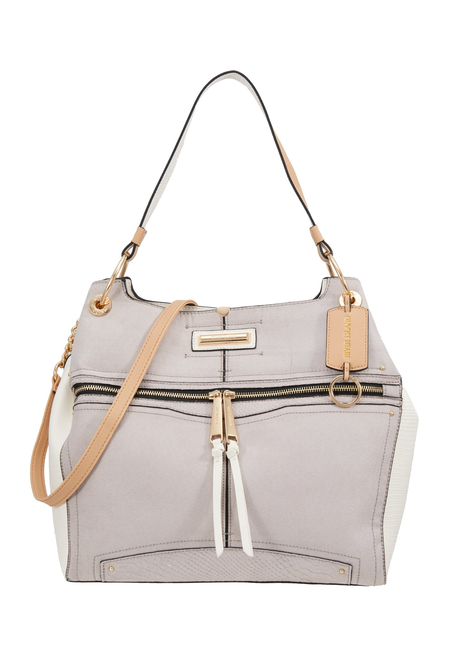 River Island Håndveske light grey Zalando.no