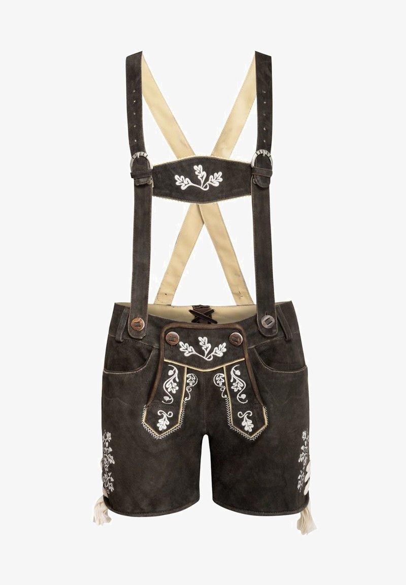 Almsach - Leather trousers - schwarz