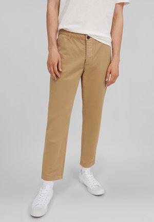 WORKER PANTS - Chinos - marl brown