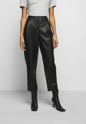 MARIE PLEAT PANTS - Trousers - black