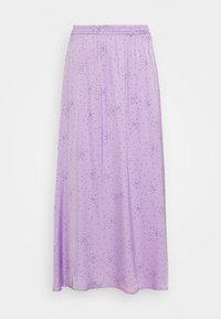DESIGNERS REMIX - MEA SKIRT - Maxi skirt - lavender/black - 1
