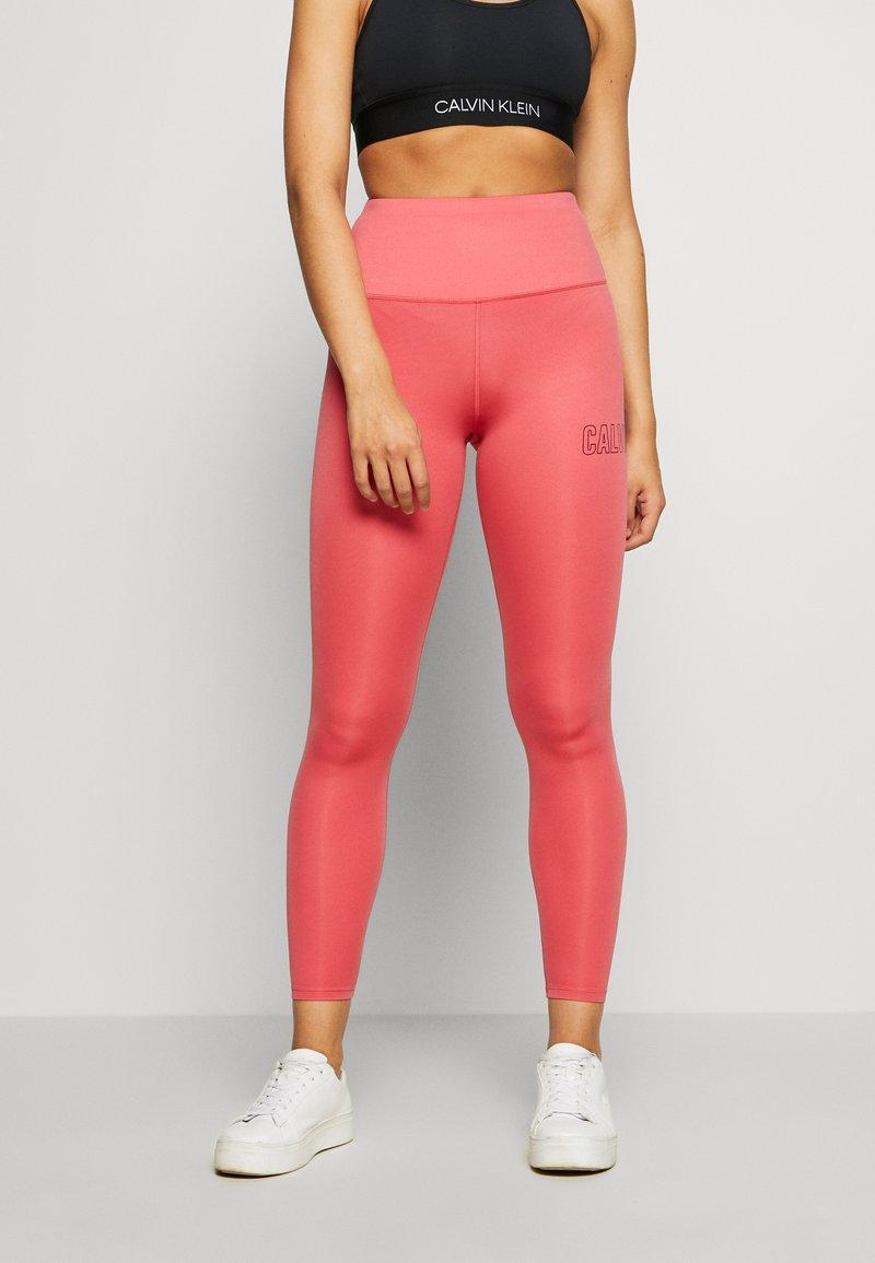 Calvin Klein Performance - FULL LENGTH - Leggings - red