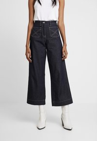 NORR - LUCAS WIDE LEG - Flared jeans - dark blue - 0