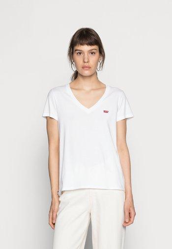 PERFECT V NECK - T-shirts med print - white