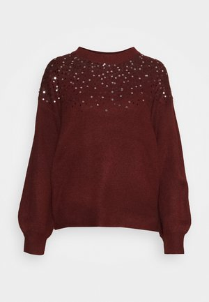 JDYNEWESTSPARKLE - Jumper - russet brown