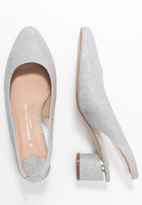 Dorothy Perkins Wide Fit - WIDE FIT DOLLAR CYCLINDER HEEL SLINGBACK COURT - Escarpins - silver - 3