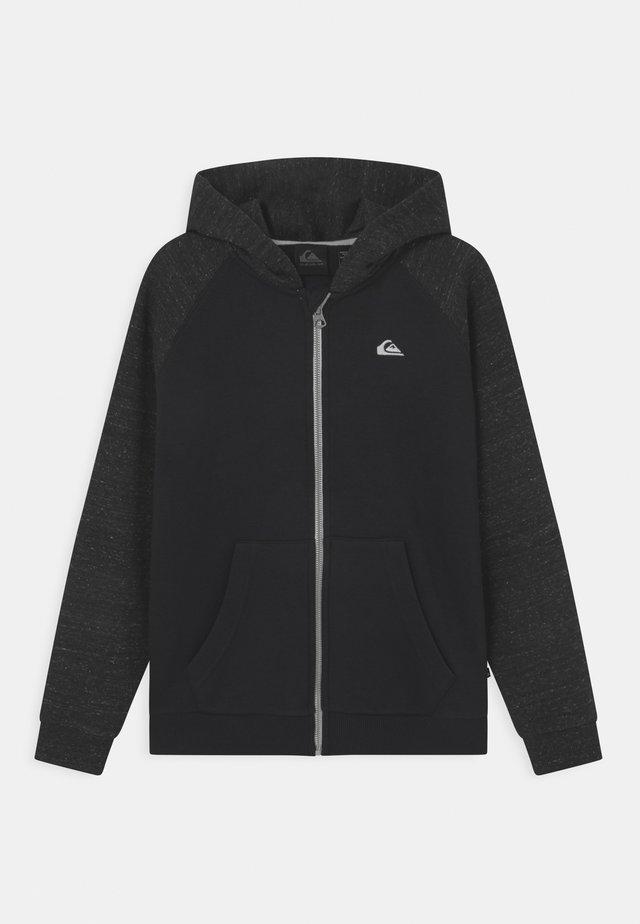EASY DAY ZIP YOUTH - Zip-up sweatshirt - black