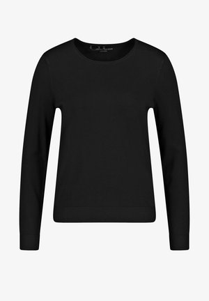 LANGARM RUNDHALS - Sweatshirt - schwarz