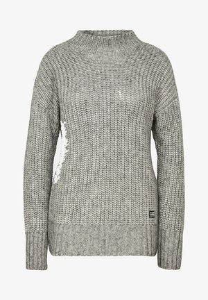 VIISI MOCK LOOSE - Jumper - grey htr