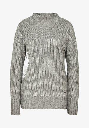 VIISI MOCK LOOSE - Pullover - grey htr