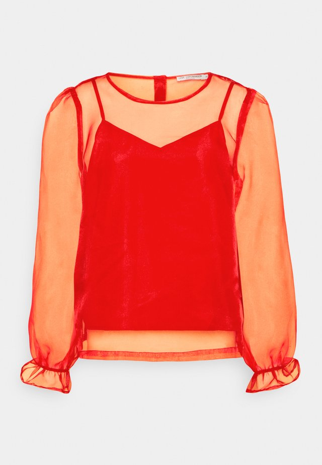 2-IN-1  - Long sleeved top - tomato