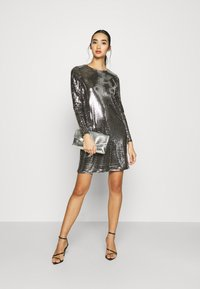 Vero Moda - VMCHARLI SHORT SEQUINS DRESS - Cocktail dress / Party dress - black/silver - 1