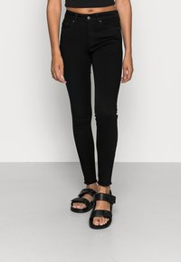 ONLY - ONLBLUSH MID RAW - Jeans Skinny Fit - black denim - 0