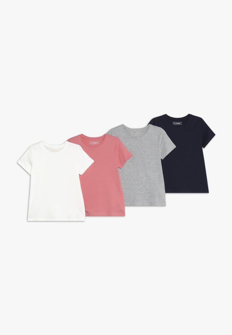 Friboo - 4 PACK - T-shirt basic - melange/strawberry