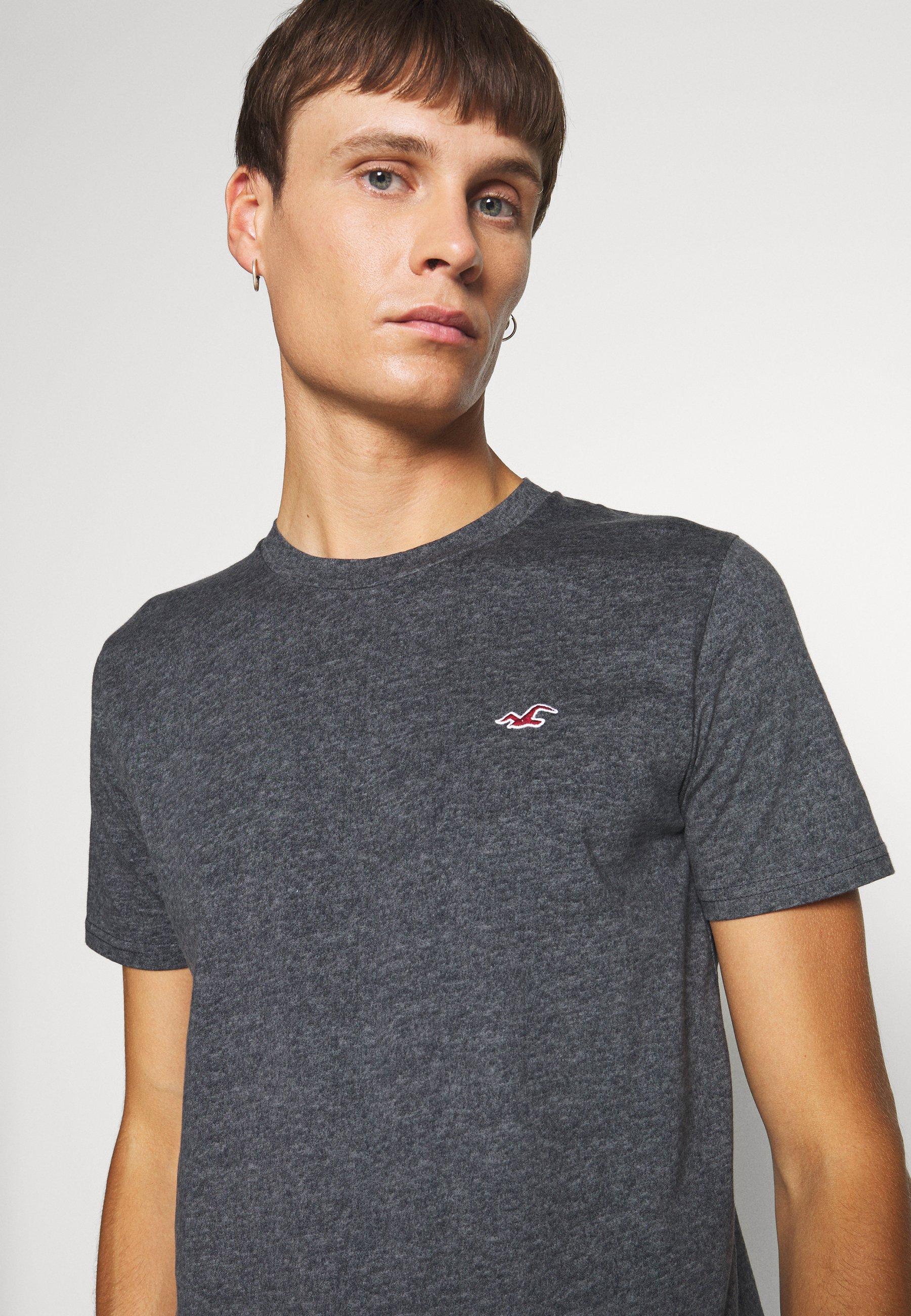 Hollister Co. CREW - Print T-shirt - black UCHqg