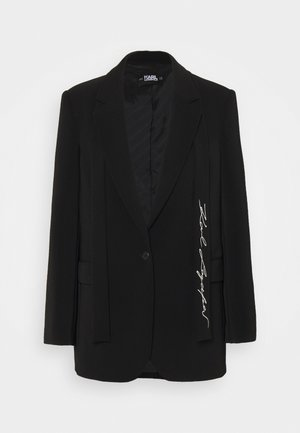 TAILORED - Kurzmantel - black