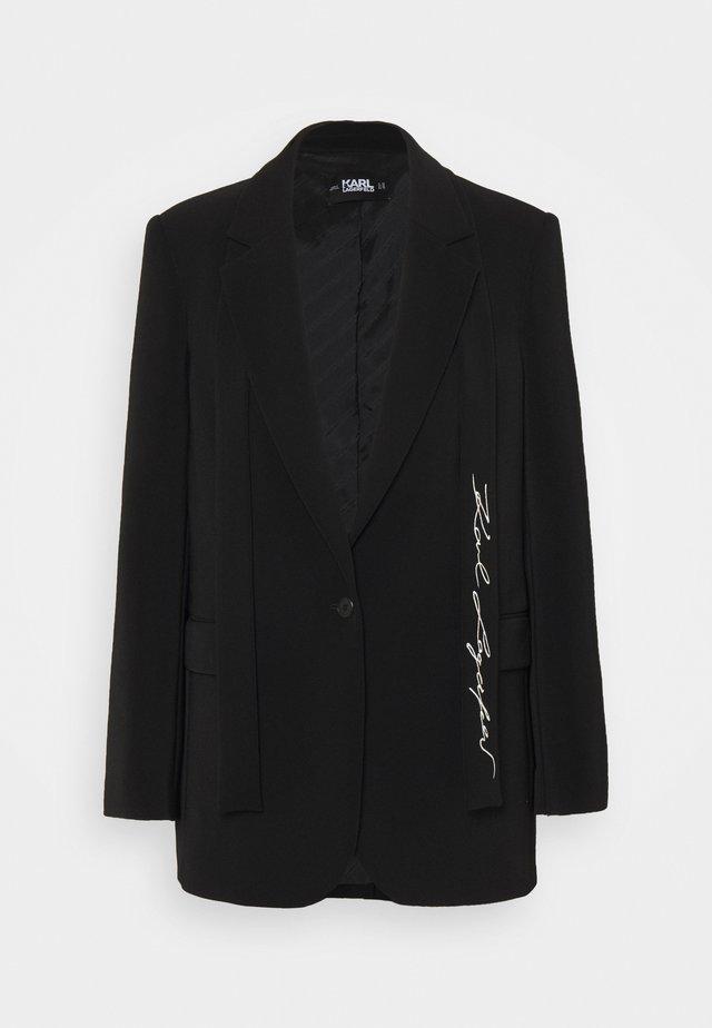 TAILORED - Short coat - black