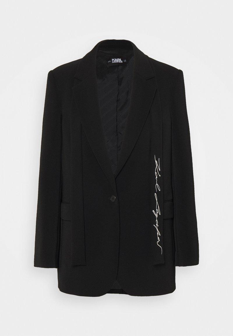 KARL LAGERFELD - TAILORED - Short coat - black