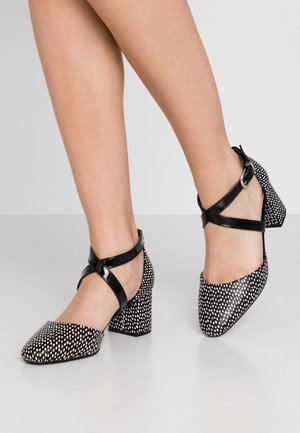 WIDE FIT WISTERIA - Classic heels - black/white