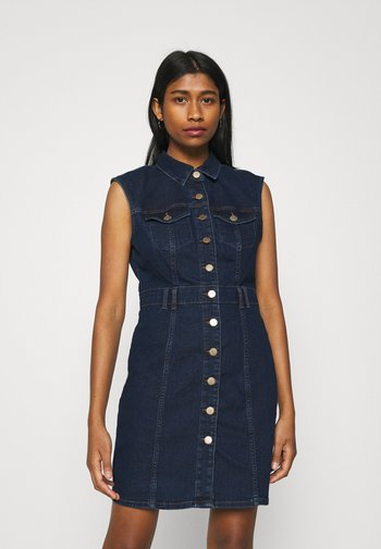 ONLFRANKIE LIFE DRESS - Denim dress - medium blue denim