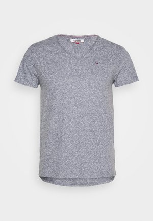 BASIC VNECK TEE SLIM FIT - T-shirt med print - faded ink