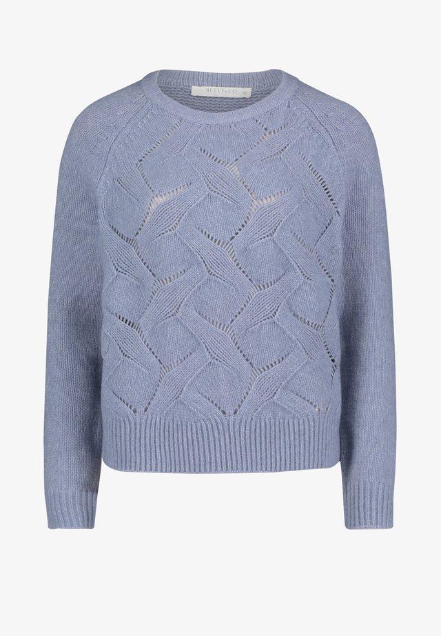 MIT STRUKTUR - Pullover - middle blue melange