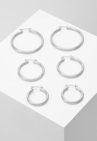 Pieces - PCSELINDA EARRINGS 3 PACK - Øredobber - silver-coloured - 0