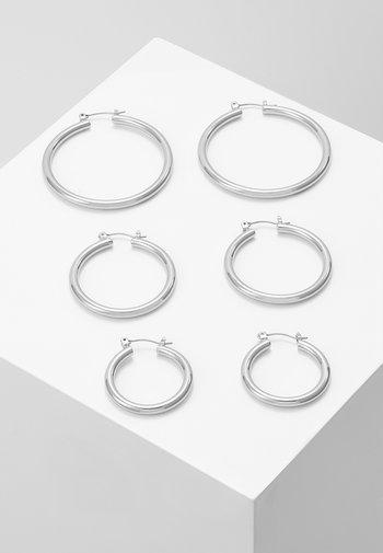 PCSELINDA EARRINGS 3 PACK - Earrings - silver-coloured