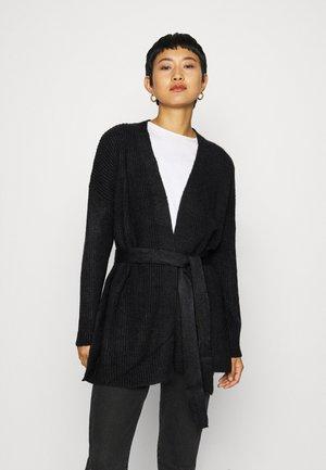 CHUNKY WRAP LONGLINE  - Vest - black