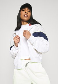 Nike Sportswear - HERITAGE - Zip-up hoodie - birch heather/grey heather/midnight navy - 3